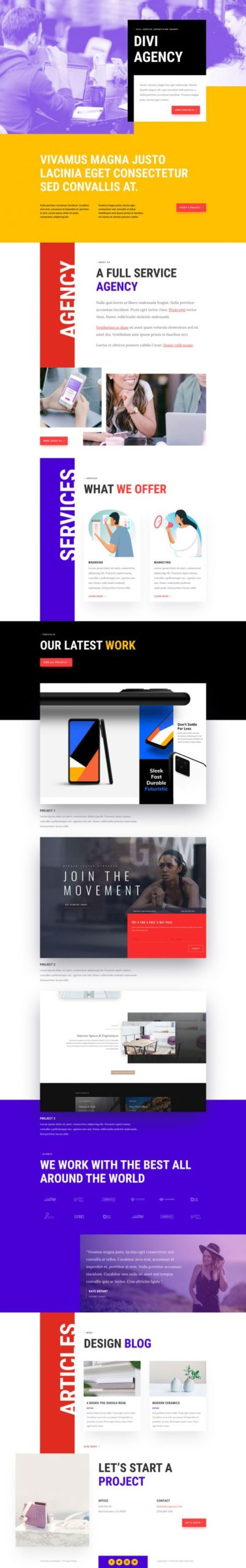 Advertising Agency Landing Page