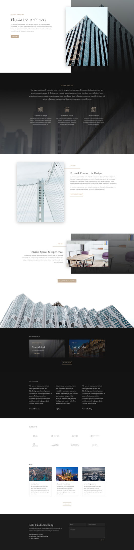 Architecture Firm Landing Page