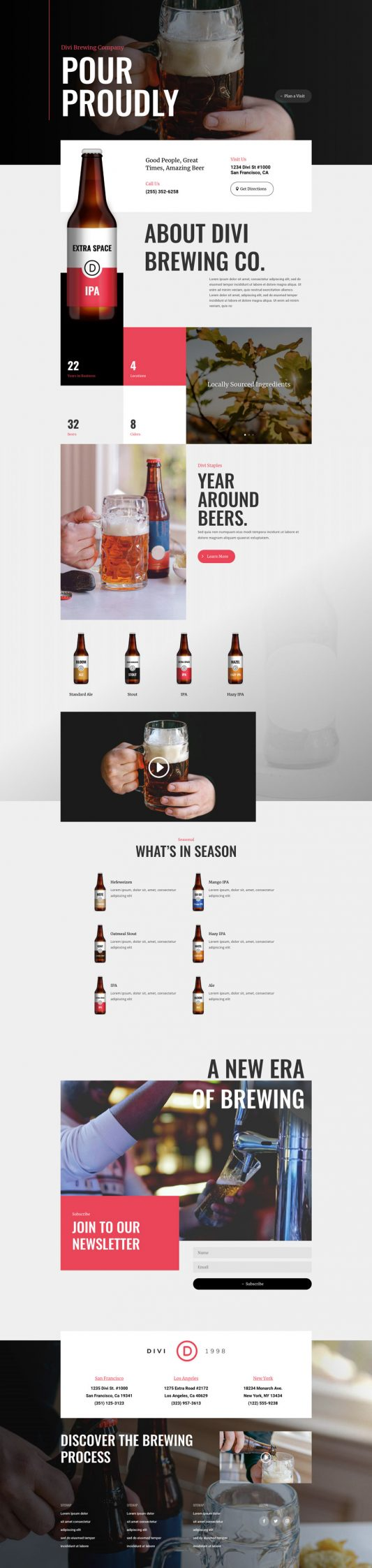 Brewery Landing Page