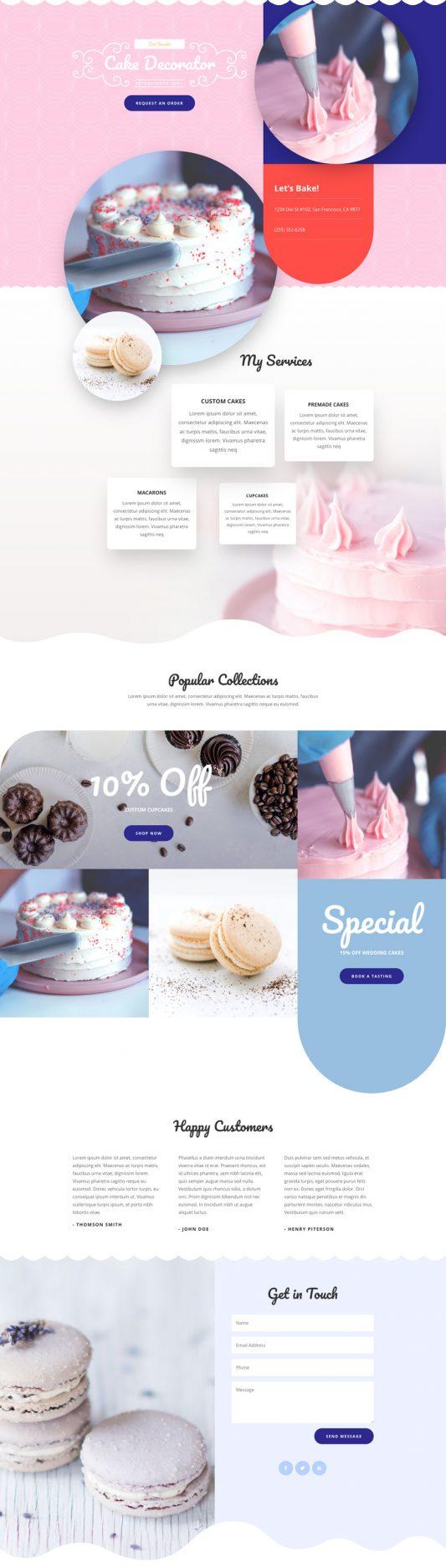 Cake Maker Landing Page