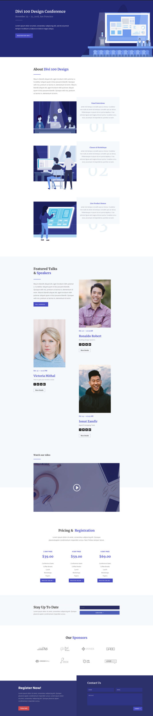 Design Conference Landing Page