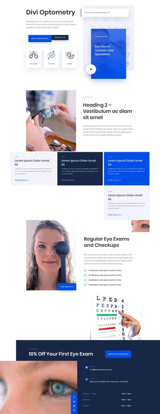 Eye Doctor Landing Page