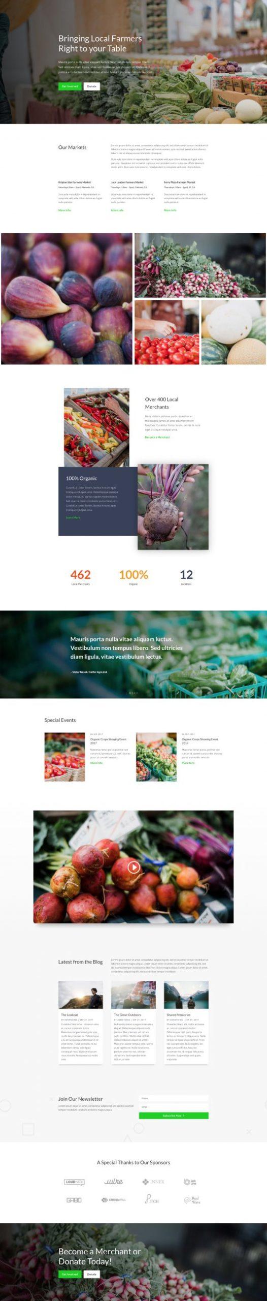 Farmers Market Landing Page