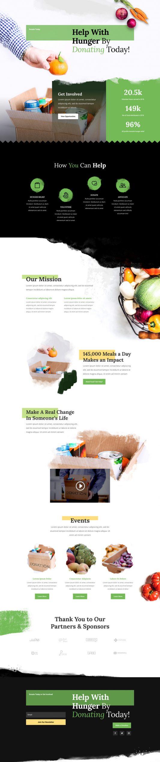 Food Bank Landing Page