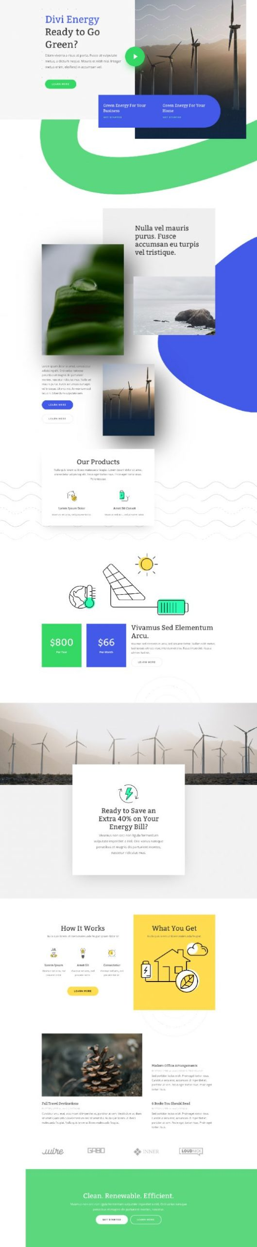 Green Energy Landing Page
