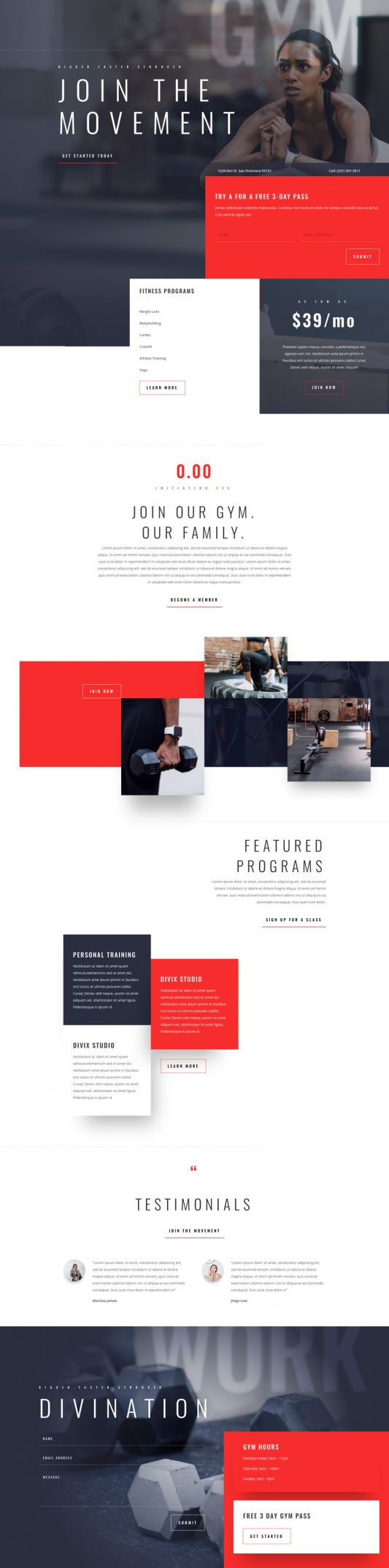 Fitness Gym Landing Page