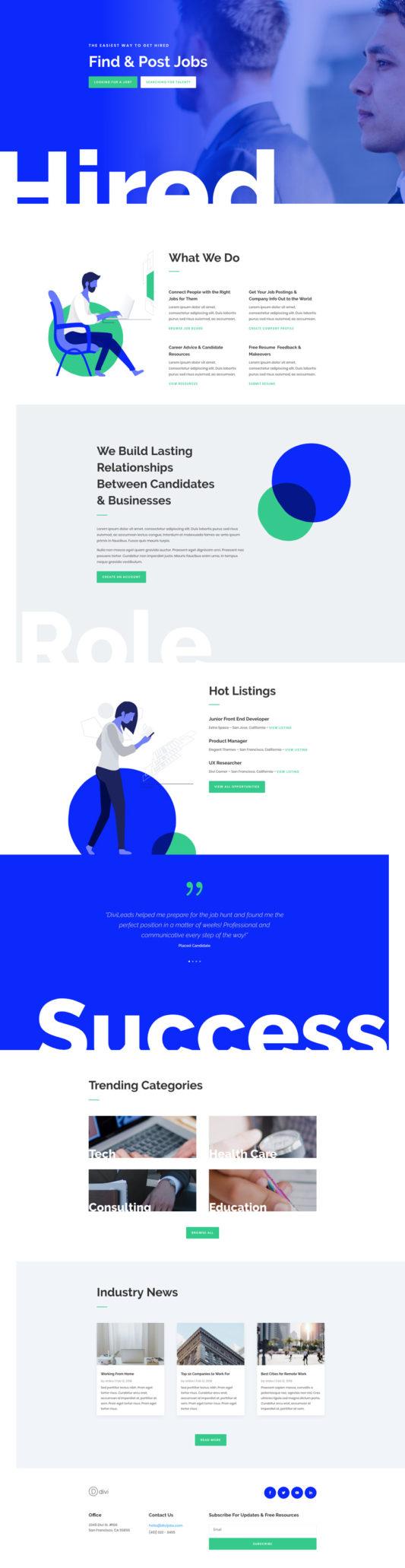 Job Board Landing Page
