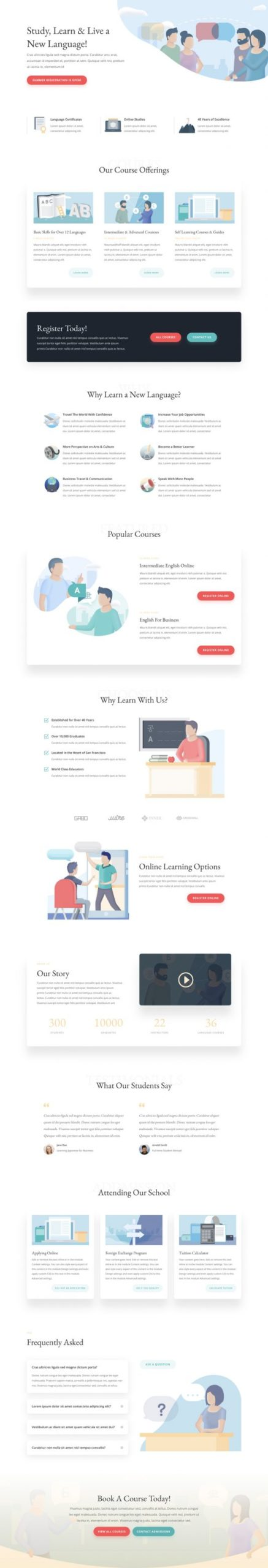 Language School Landing Page
