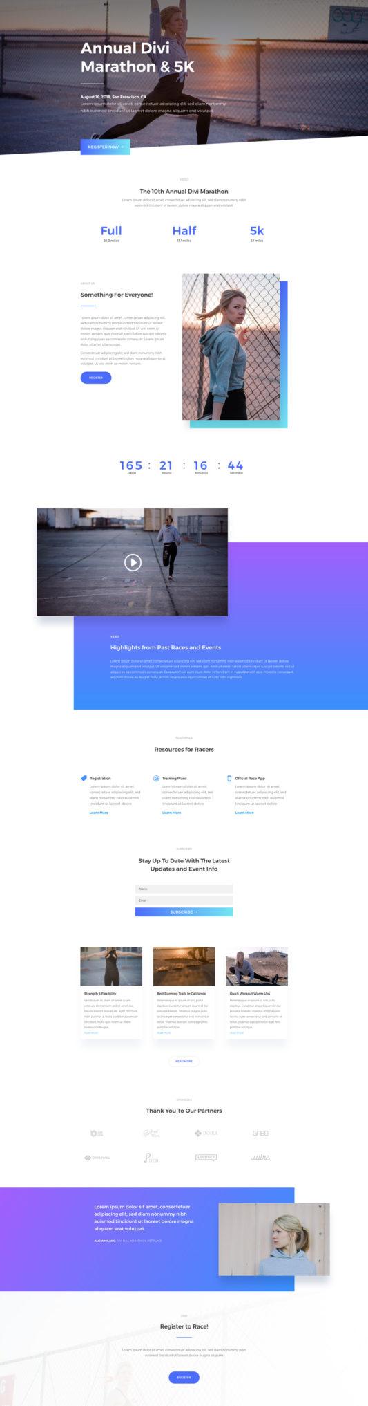 Marathon Landing Page