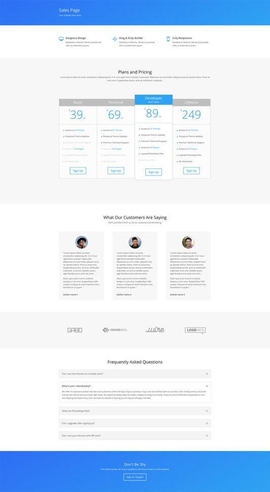 Simple Sales Page