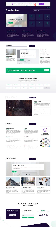 Technology News Landing Page