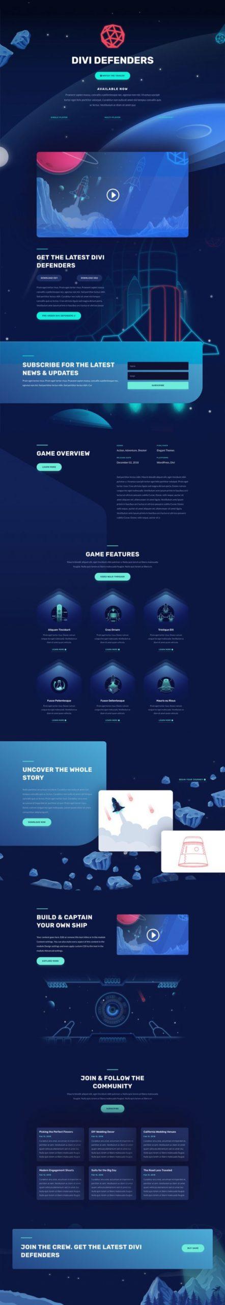 Video Game Landing Page