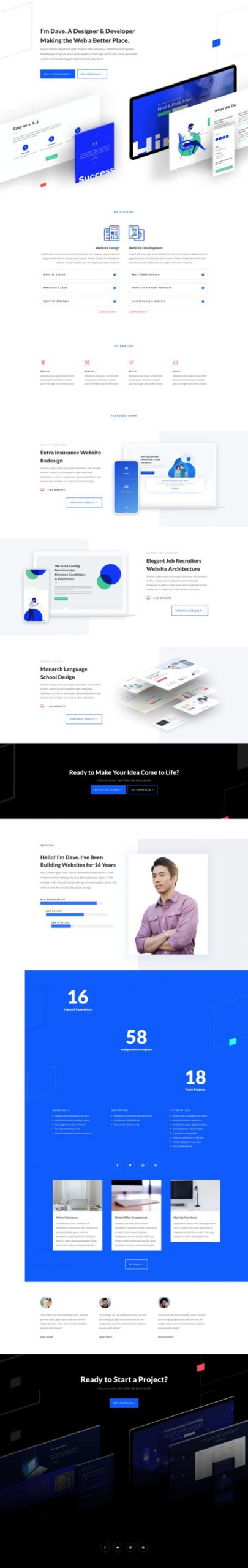 Web Freelancer Landing Page