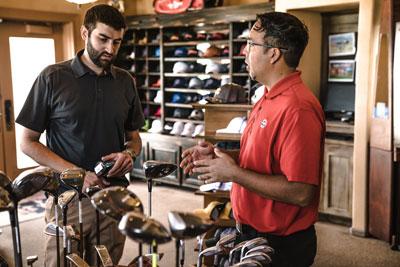 golf shop customer