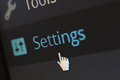 Managing WordPress settings
