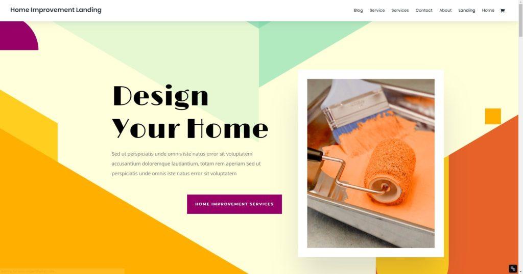 Home Improvement Business Responsive Website Desktop Version