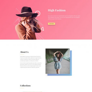 High Fashion Website Template