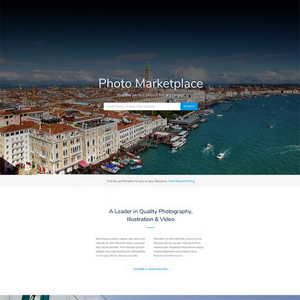 Photography Marketplace Website Template