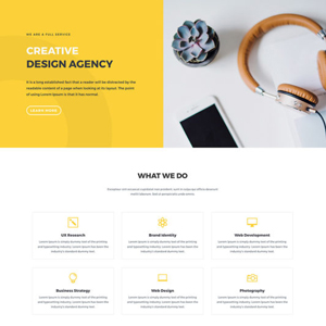 Digital Design Agency Website Template