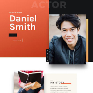 Actor CV Website Template