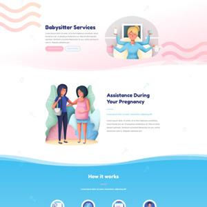 Babysitter Website Template
