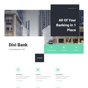 Bank Website Template