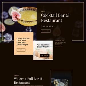Bar Website Template