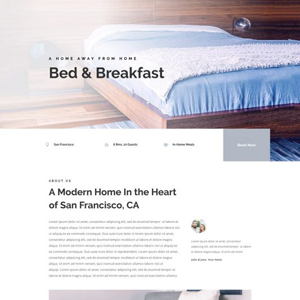 Bed & Breakfast Website Template