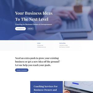 Business Coach Website Template