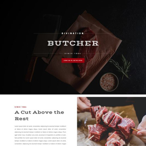 Butcher Website Template