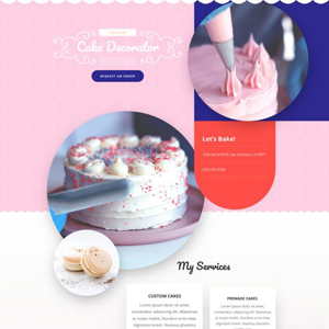 Cake Maker Website Template
