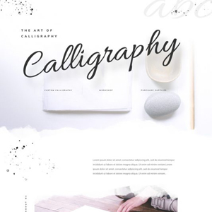 Calligrapher Website Template