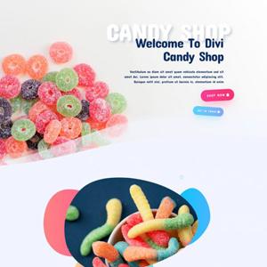Candy Shop Website Template