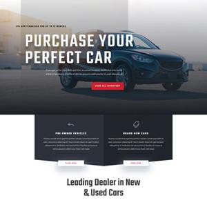 Car Dealership Website Template
