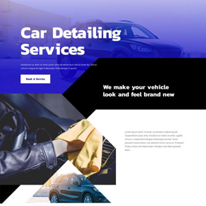 Car Detailing Website Template