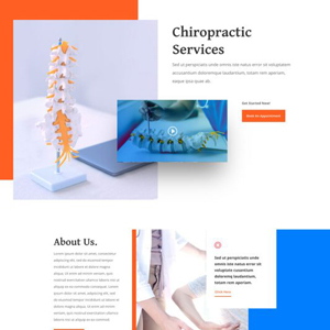 Chiropractor Website Template