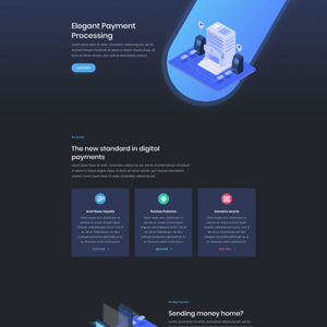 Digital Payments Website Template