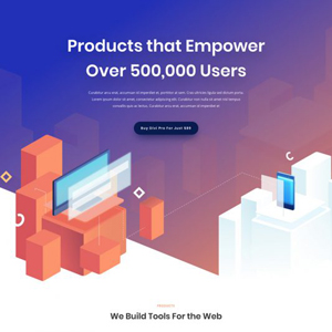 Digital Product Website Template