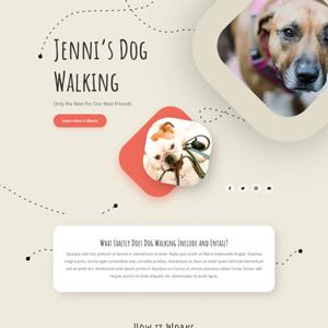 Dog Walker Website Template