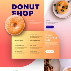 Donut Shop Website Template