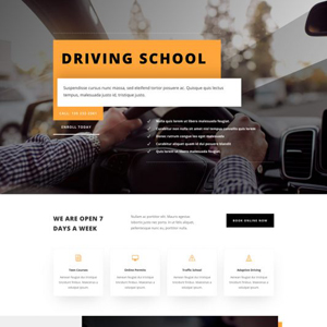 Driving School Website Template