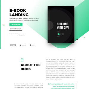 eBook Website Template