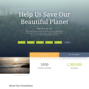 Environmental Nonprofit Website Template