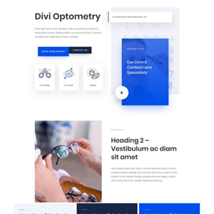 Eye Doctor Website Template