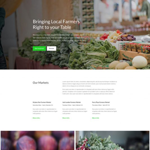 Farmers MarketWebsite Template
