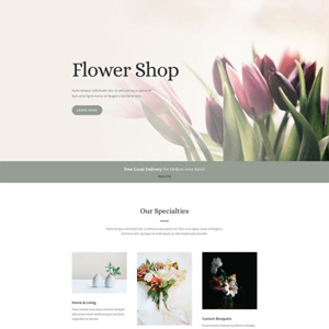 Florist Website Template