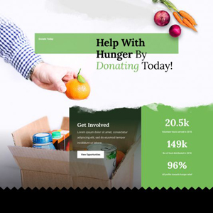 Food Bank Website Template