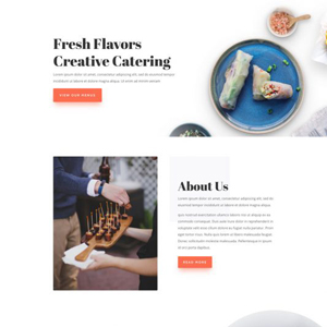 Food Catering Website Template