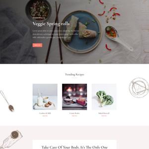 Food Recipes Website Template