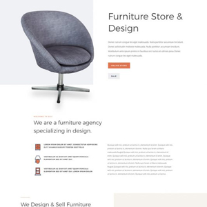 Furniture Store Website Template